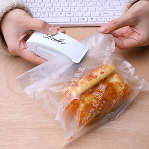 Sac Thermoscelleuse Mini thermoscellage machine d'emballage sac en plastique Impulse Sealer Joint Portable Pression main Voyage Food Saver DBC BH2963