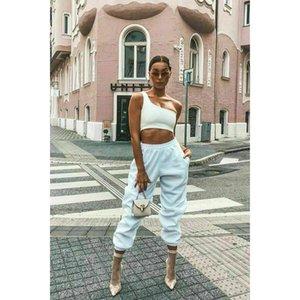 Высокая улица свободные женщины спорт бег Высокая талия Брюки спортивные брюки Бегун танец мешковатые хип-хоп брюки