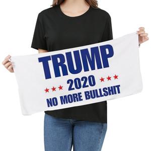 Mikrofaser Trump Gesicht Handtuch 35 * 75cm US-amerikanischen Wahlen Quick Dry Absorbent Sports Handtuch Make America Great Again Handtücher DHF398