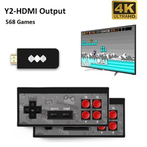 2020 DATA FROG Y2 Portable Game Consoles Wireless 4K HD Video Game Player HDMI 568 AV 600 Retro Classic Games Handheld Game Joystick