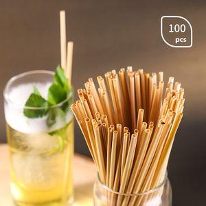 Природные соломы пшеницы 100% биоразлагаемые Healthy Экологичный Портативный соломинкой Бар Кухонные принадлежности 400PCS