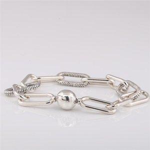 925 réel Bracelet en argent Bracelet 598373 avec LOGO de style Gravé Fit Pandoras bijoux breloques et perles bricolage 10pcs / lot Vous pouvez mélanger la taille