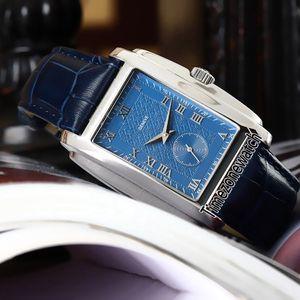 Sınırlı Yeni Gondolo 42mm 5124 5124G-011 Mavi Dial Otomatik Erkek İzle 316L Çelik Kasa Mavi Deri Yüksek Kalite Gents Saatler timezonewatch
