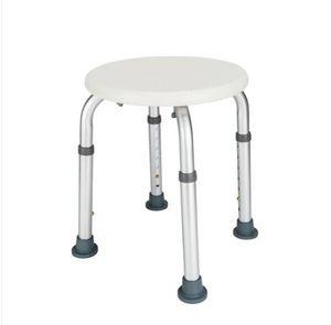 Moda Livre transporte grosso HOT vendas liga de alumínio Idosos cadeira de banho redonda fezes com otário braço Branco