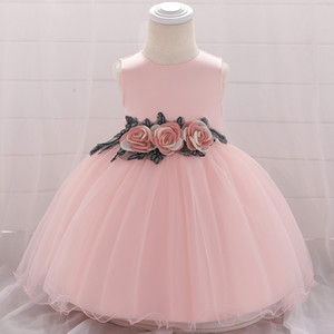 Baby Girls Flower Princess Dress for Wedding Party Formal Party Wear Baptism Dresses Toddler Girl Children Summer Kids Clothes