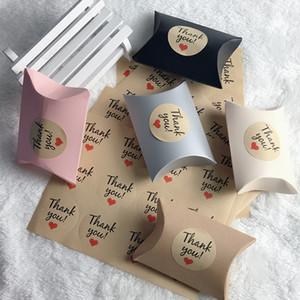 108pcs Kraft Papier Cadeau Sacs Merci Dragee Sacs De Papier De Bonbons Autocollant Fête De Mariage DIY Festif Événement Fête D'emballage Fournitures