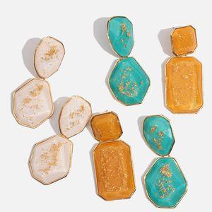 Flatfoosie New Handmade Crystal Jewelry Women Earrings 2019 Wedding Party Dangle Drop Earring Metal Accessory Pendientes Girl