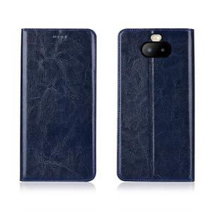 Hochwertige Handytasche für Sony Xperia XA3 Plus Echtes Rindsleder Handytasche mit Kartenschlitz für Sony Xperia XA3 Plus Flip Case