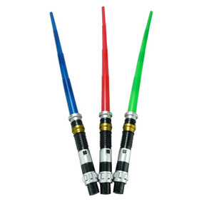 Cospay Star Toys Telescopic Lightsaber with Light Sound LED Laser Sword Toy for Children Birthday Christmas Party