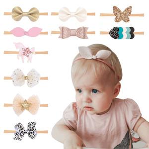 Bébés filles Bow Hairband 10 Style de litchi bande Noeud dans les cheveux du nourrisson Tout-petit coeur étoile élastique Bandeau enfants Couvre-chef 060421