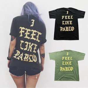 Ich fühle mich wie pablo kanye Cotton Stadt begrenzt Paar Buchstabedrucken T-Shirt 2020