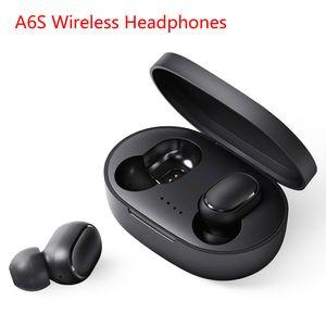 Ecouteur sans fil pour téléphone portable Xiaomi Double Bluetooth 5.0 Oreillettes TWS Casques Noise Canceling Mic pour iPhone Huawei Samsung A6S