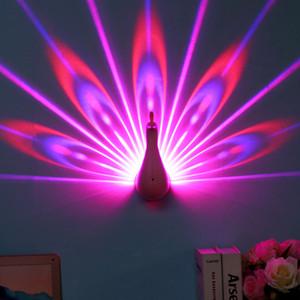 Su lámpara de proyección de cola Control remoto colorido Usb de hogar Luz nocturna pequeña Lámpara de pared Led Proyección arco iris Luz nocturna pequeña