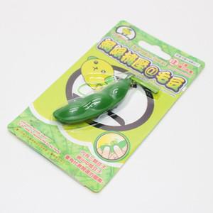 Yeni Creative Ekstrüzyon Bezelye Fasulye Soya Soya fasulyesi Stres Tahliyesi Oyuncak Anahtarlık Sevimli Fun Anahtarlık Ring Paty Hediye Çanta Charms Trinket