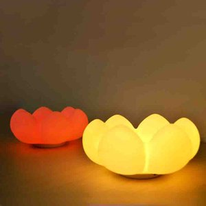 Stylish little night light Silicone cartoon succulent plant tray bedroom night atmosphere light portable gift for children