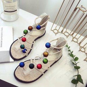 Mokingtop 2020 Women's Sandals Bohemia Flip Flops Platform Summer Woman Slip On Female Fashion Roman Ladies Casual Women Heels Shoes