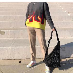 AUFMASS Pullover für Männer Frauen faule Pullover Pullover Herbst und Winter Hip Hop Maxi-Stricken Pullover Top