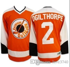 Custom Men Youth women Vintage Hot Hanson Brothers Charlestown Ice Hockey Jersey #2 OGIE OGILTHORPE syracuse bulldogs SlapShot Movie