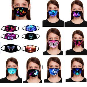 Ben 3D Baskı Repeatable Yıkama XD23612 maskesi Siyah Pamuk Tasarımcı Yüz Maskeleri Breathe Cant 22 Stil Kelebek Maskeleri