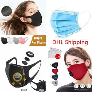 Masque 3D Stereo Activé Masque de carbone Filtre Anti respirateurs PM2,5 Anti Smog Protéger Masque bouche visage protection sans air