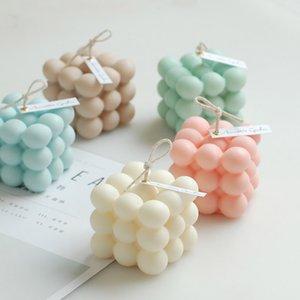 1pcs de la géométrie du cube de Rubik soja pur bougie parfumée pour le mariage décoration de la maison