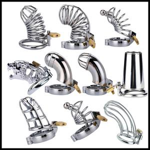 La dernière conception en acier inoxydable Male Chastity Dispositif pour les hommes de verrouillage anti-Erection appareil BDSM Sex Toys longueur 6cm Cock Cage