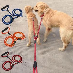 Artículos para mascotas perro de nylon Correas de doble correa del perro fuerte grande para perros pequeños Caminar al aire libre 80301