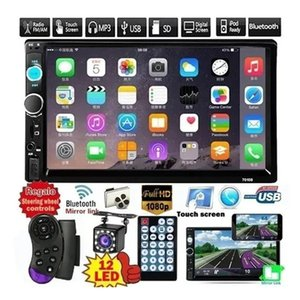 "2 Din 7"" USB estéreo del coche de HD DVD Reproductor Multimedia Android MirrorLink Autoradio 7010B radio de coche Bluetooth FM AUX TF Auto Audio"