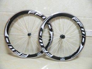 FFWD 50 millimetri di superficie della bici della strada Wheelset Clincher in lega di carbonio Ruote di alluminio del freno include i mozzi e sgancio rapido