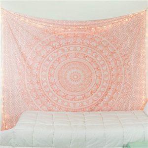 210 * 150см Гобелен Гобелены Индийский Mandala Гобелен Tai Chi Хиппи Bohemian декоративные настенные Carpet йога коврики