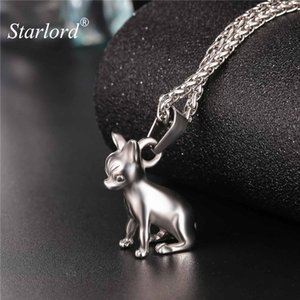 Starlord Chihuahuas Dog Necklace Pendant Collier Stainless Steel Gold Color Chain Women Men Collar Animal Pet Jewelry GP2464