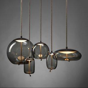 Knot Vidro pingente Luzes Iluminação Nordic minimalista Led Designer Sala Hanging Lamp Criativo Luster Lampada Camera