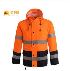 Yağmurluk İş Kıyafetleri Güvenli Yağmurluk Yansıtıcı Giyim Üreticileri Tedarik Toptan Su geçirmez yüksek görünürlük giyim