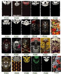 Neue Halloween-Masken-Schädel-Stirnband-Multifunktions Nahtlose Kopftuch Variable magischer Schal Sport-Maske Partei Masken I496