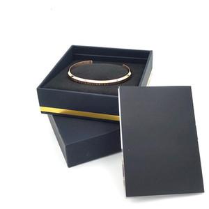 Nuova CW Bracciali Bracciale con scatola originale bracciale in acciaio oro rosa Argento Bangle Tutti Acciaio Bracciali donne e degli uomini Insieme dei monili