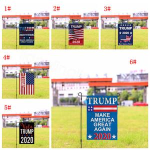 Trump garden flags Courtyard festival flag linen trump banner president election vote america 2020 great again banner flag 30*45cm FFA1402-1
