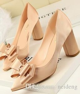 Sweet Girls Lady Dress Shoes Women Pointed Toe PU Leather High Heels Festival Party Wedding Shoes Slim Formal