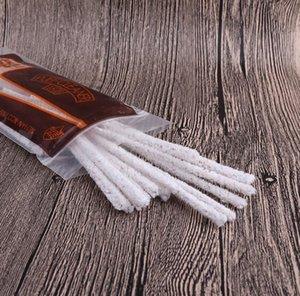 50 materiais de consumo dos encaixes de tubulação limpam utensílios puros do tabaco da escova da fita do algodão do pacote