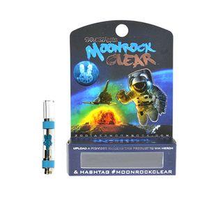 Le plus récent Moonrock cartouches de vape claires empaquetant le vaporisateur en verre en céramique de réservoir de 1ml en verre de GV 1 ml pour le pétrole épais Ecig atomiseurs 510 batterie de fil