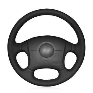 Coprivolante per auto in pelle sintetica nera per Hyundai Elantra 2007-2011