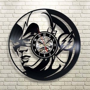 Round flash main Disque Vinyle Horloge Creatieve Home Décor suspendu de Bell Unique Wall Art 3D montre