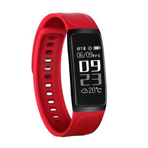 C7S intelligent Bracelet Fitness Tracker Blood Pressure Moniteur de fréquence cardiaque Sport Montre intelligente Ecran LCD intelligent pour iPhone Android Wristwatch
