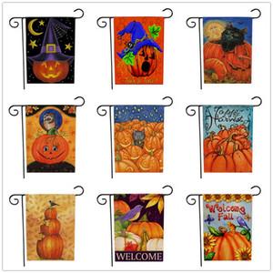 Moda Dia Das Bruxas Padrão Bandeira Dupla Face Impressão Decoração Do Jardim Bandeira Bandeiras Ao Ar Livre Para Pumpkin Fantasma Bat Flor 203 Estilos DHL XD20149