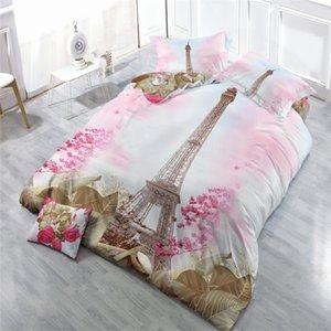 Adultos mordern Bedclothes cenário romântico Folha de cama Set capa do edredon fronha 3D Impresso Cama confortável edredon cobrir Set