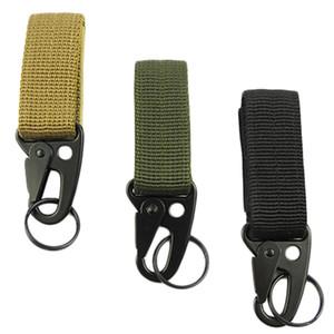 Hombres acampar al aire libre táctico mosquetón mochila ganchos Olecranon Molle Hook Survival Gear EDC Nylon militar llavero cierre 5 unids / set