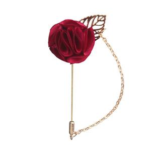 8 Renkler Kırmızı Gül Çiçekler Yaka Pin Erkek Düğün Buket El Yapımı Broş Groomsmen Damat Korsaj ve Boutonnieres
