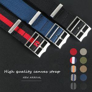 Cinturino in nylon di sport Nato Zulu Parachute cinturino per Black Bay 22 millimetri 21mm Truppe braccialetto accessori francesi