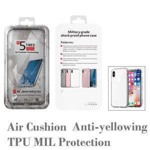 Anti-dropping TPU Case for iPhone 11 PRO XR XS MAX Air Cushion Transparent Mobile Phone Case for iPhone 6s 7 8 Plus with Retail Box