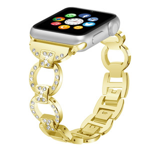 Tschick Band per Apple Watch Band 38mm 40mm iWatch Series 4 3 2 1, cinturino in metallo con strass in acciaio con diamanti