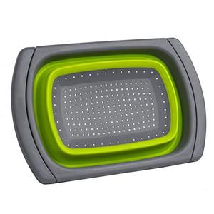 Lavabo Colander / Süzgeç, Green Üzeri SICAK Katlanır